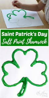 saint patricks day salt paint shamrock art project rhythms of play