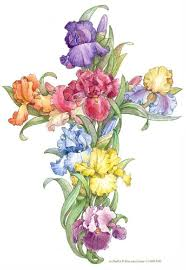 cross with flowers free clipart 26