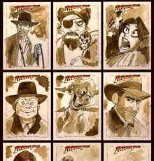 the trumpet parade topps indiana jones heritage sketch cards