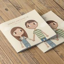 love story wedding invitation booklet by clare vacha