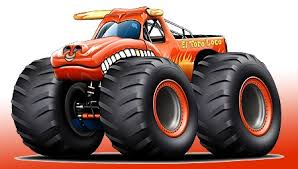 new monster truck el toro loco monster truck cartoon art print new ebay