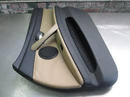 lexus v8 in bmw e30 front right interior door trim panel bamboo beige black oem bmw m3
