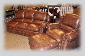 Pigmented Leather Sofa Flexsteel Latitudes The Amish Vault Amish Vault Gifts