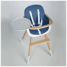 assise chaise haute coussin bleu pour chaise haute ovo one blanche par micuna