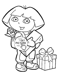 coloring pages with gifts for kids printable free