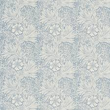 William Morris Wallpaper by Gordon Smith Malvern Ltd William Morris Marigold China Blue