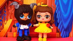 kids toys lol surprise dolls turn into beauty u0026 the beast