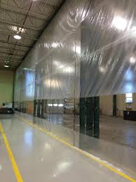 tarp and vinyl doors room dividers and curtains martarp custom