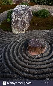 taizo in temple rock garden kyoto japan asia stock photo