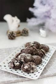 cuisine de noel facile recette de noël crinkles biscuits craquelés au chocolat
