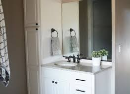 Unfinished Bathroom Cabinets And Vanities by Simple Wonderful Bathroom Vanity With Linen Cabinet With Bathroom