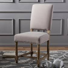 Upholstered Linen Dining Chairs Baxton Studio Deborah Beige Fabric Upholstered Dining Chair 2pc