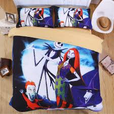 nightmare before bedding set skull 3d printed bed sheet