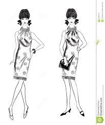 stylish fashion dressed 1950 u0027s 1960 u0027s style stock image
