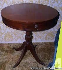 antique spindle leg side table antique round side table round table with metal claw antique round