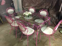 mid century bistro table stunning vtg mid century wrought iron dining patio set table chairs