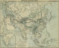 Map Of Constantinople Map Eurasian Trade Routes In The 13th Century 1a By China Report Com