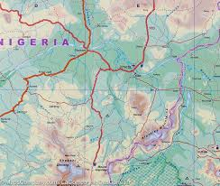 Map Of Nigeria Africa Map Of Nigeria U0026 Cameroon Itm U2013 Mapscompany