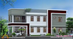 1300 Square Foot House Plans 2450 Sq Ft Total Flat Roof House Kerala Home Design And Floor Plans