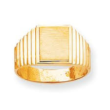 Ring With Initials Daniels Jewelers Mens Yellow Gold Signet Rings With Up To 2