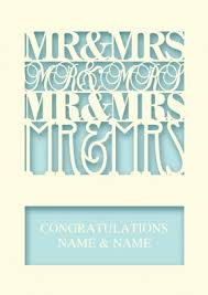 congratulations on wedding card mr mrs personalised wedding card