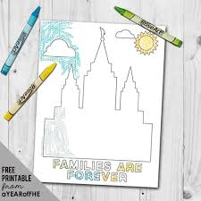 temple coloring page a year of fhe free coloring page families are forever lds temple