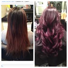 brown plum hair color plum brown ombre images