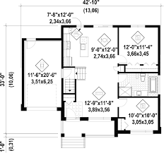 contemporary style house plan 2 beds 1 00 baths 927 sq ft plan