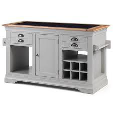 kansas cream painted granite top kitchen island unit