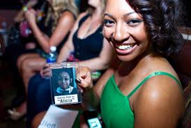 high school reunion name tags aleisha allen shows special name tag