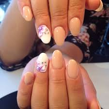 sns nail system on natural nails sculpt design and stones on