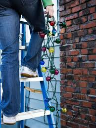Outside Garage Lighting Ideas by How To Hang Christmas Lights Diy