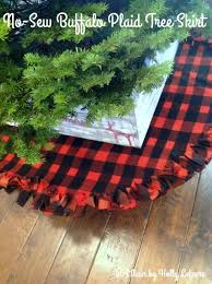 plaid tree skirt no sew buffalo plaid christmas tree skirt hometalk