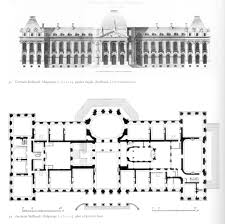 Castle Style Floor Plans by Germain Boffrand Château De Malgrange Plan U0026 Elevation