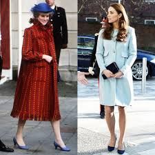 kate middleton s pregnancy style versus princess diana pictures