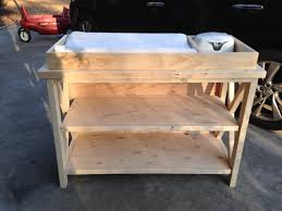 rolling baby changing table free baby changing table woodworking plans within wood decor 6