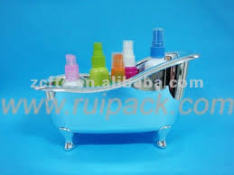 Transparent Bathtub Plastic Novelty Containers Plastic Bathtub Shaped Bath Storage