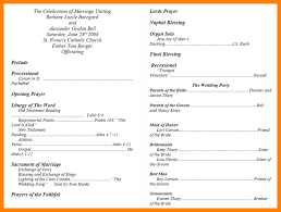 Wedding Program Templates Word 9 Wedding Programs Template Monthly Budget Forms