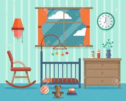 illustration chambre bébé chambre enfant pour le bébé nouveau né rocking chair la conception