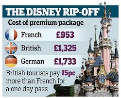 how much is it to go to the zoo lights brits pay 40 more than the french to visit disneyland paris daily