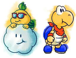 paper mario nintendo 64 artwork including characters bosses