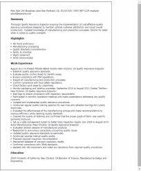 Quality Inspector Resume Coating Inspector Resume Sales Inspector Lewesmr
