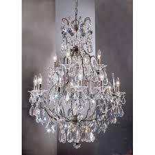 Bronze Chandelier With Crystals Buy Garden Of Versailles 9 Light Crystal Chandelier Finish