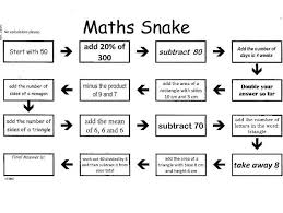 mixed arithmetic puzzle maths snake 20 worksheets and answers by