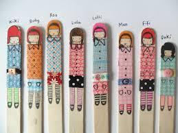 washi stick puppets family crafts