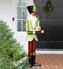 Nutcracker Christmas Yard Decorations by Life Size Metal Nutcracker Holiday Accent Indoor Holiday Decorations