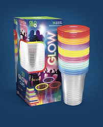 glow in the cups glow party glowing party cups 20ct 7 colors glow stick party cups