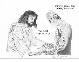 Lol Jesus Meme - the bullet stays in lol dammit jesus stop healing the wound