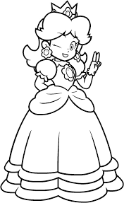 14 images of princess peach daisy rosalina coloring pages