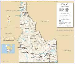 Montana State Map Nami Idaho Homepage